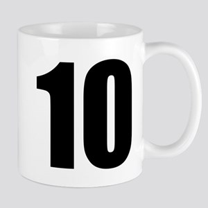 Number 10 11 oz Ceramic Mug