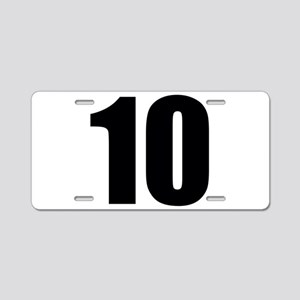 Number 10 Aluminum License Plate