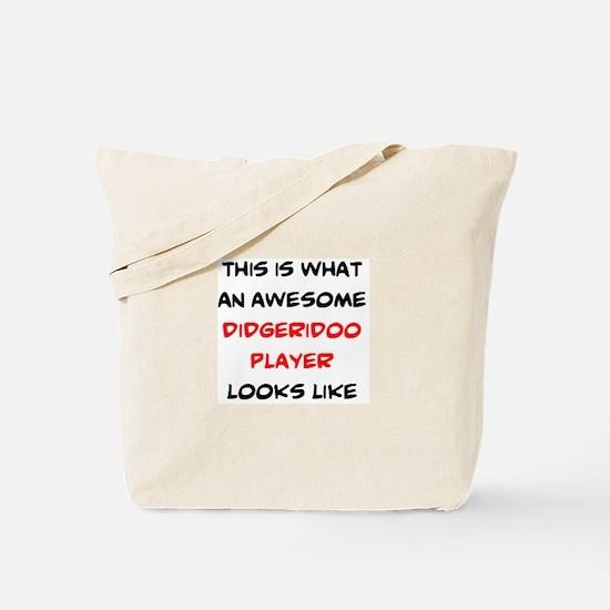 awesome didgeridoo player Tote Bag
