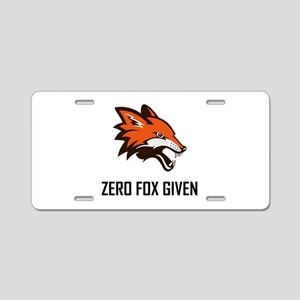 Zero Fox Given Funny Aluminum License Plate