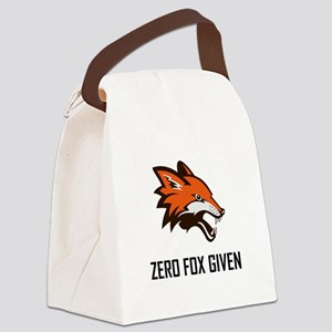 Zero Fox Given Funny Canvas Lunch Bag