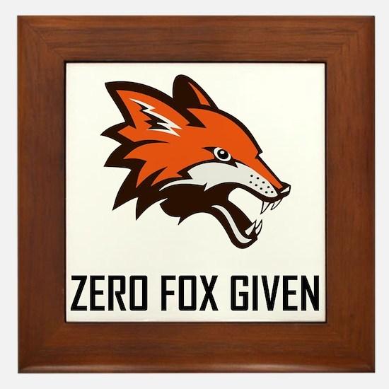 Zero Fox Given Funny Framed Tile