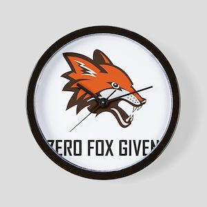 Zero Fox Given Funny Wall Clock