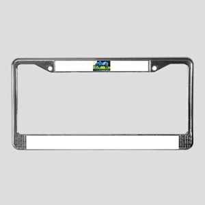Painted Horse 2 License Plate Frame