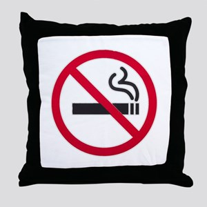 No Smoking Sign Throw Pillow