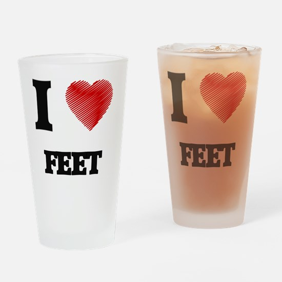 I love Feet Drinking Glass