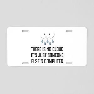 No Cloud Someone Else Computer Funny Aluminum Lice