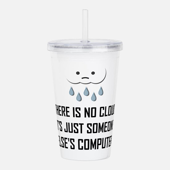 No Cloud Someone Else Computer Funny Acrylic Doubl