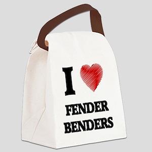 I love Fender Benders Canvas Lunch Bag