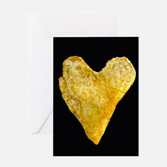 Heart Shaped Potato Chip Greeting Cards