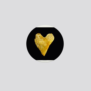 Heart Shaped Potato Chip Mini Button
