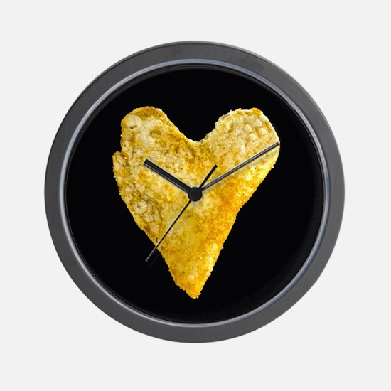 Heart Shaped Potato Chip Wall Clock