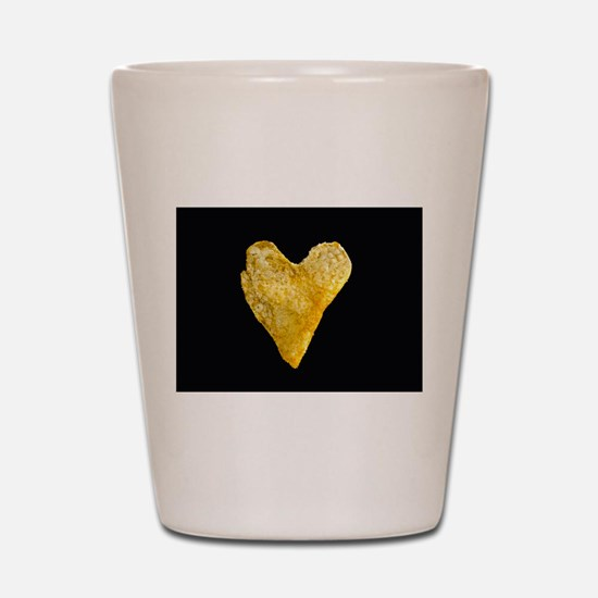 Heart Shaped Potato Chip Shot Glass