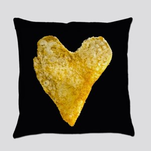 Heart Shaped Potato Chip Everyday Pillow