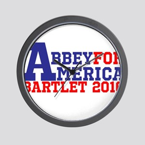 Abbey For America Bartlet 2016 Wall Clock