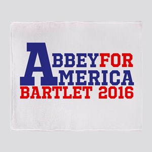 Abbey For America Bartlet 2016 Throw Blanket