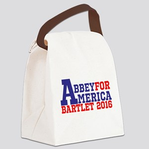 Abbey For America Bartlet 2016 Canvas Lunch Bag