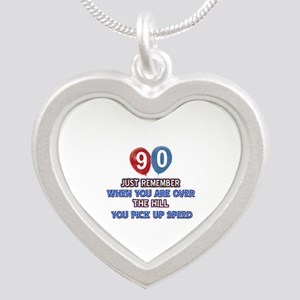 90 year old designs Silver Heart Necklace