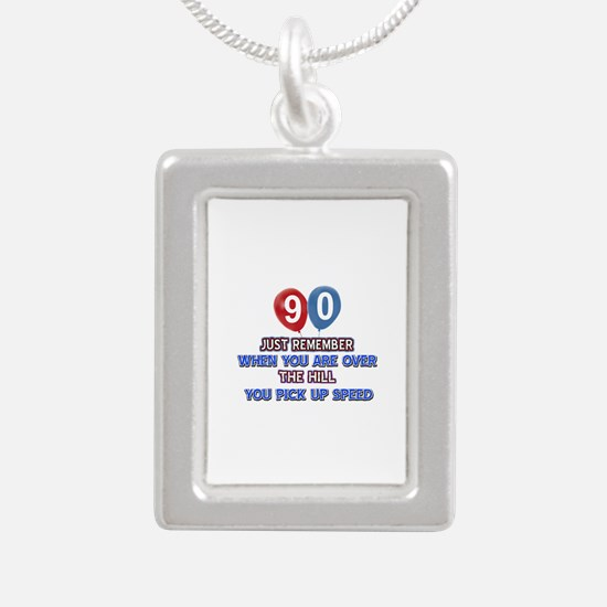 90 year old designs Silver Portrait Necklace