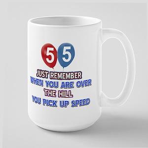 55 year old designs Large Mug