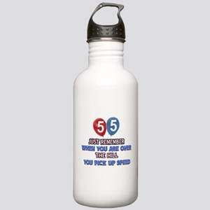 55 year old designs Stainless Water Bottle 1.0L
