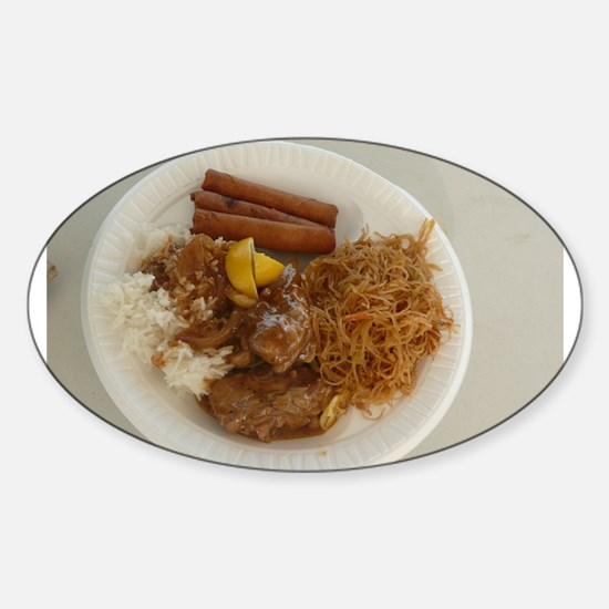 plate with chicken adobo,lumpia,pancit Fil Decal