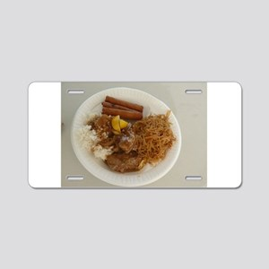 plate with chicken adobo,lu Aluminum License Plate