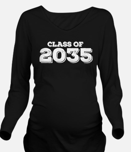 Class of 2035 Long Sleeve Maternity T-Shirt