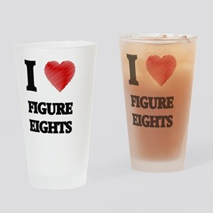 I love Figure Eights Drinking Glass