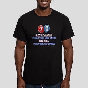 70 year old designs Men's Fitted T-Shirt (dark)