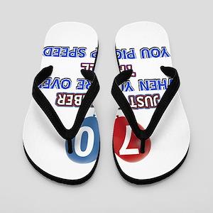 70 year old designs Flip Flops