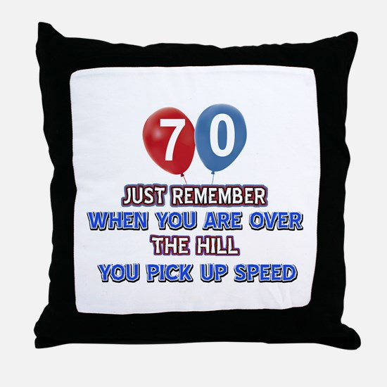 70 year old designs Throw Pillow