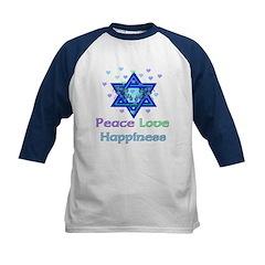 Peace Love Happiness Kids Baseball Jersey