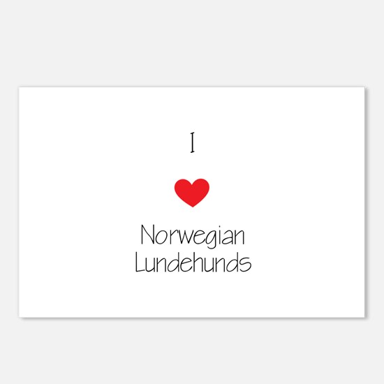 I love Norwegian Lundhund Postcards (Package of 8)