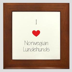 I love Norwegian Lundhunds Framed Tile