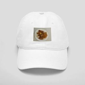 plate with chicken adobo,lumpia,pancit Filipin Cap