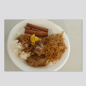 plate with chicken adobo, Postcards (Package of 8)