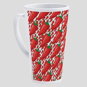 Wild Red Hot Peppers 17 oz Latte Mug