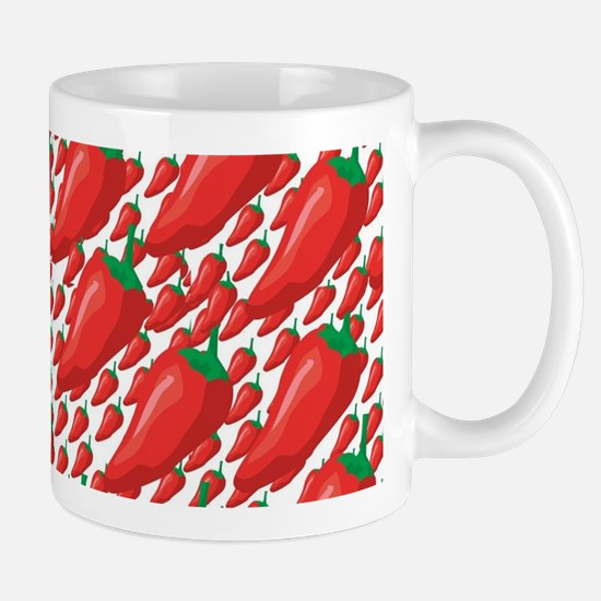 Wild Red Hot Peppers Mugs