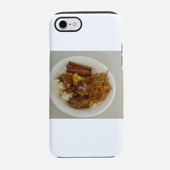 plate with chicken adobo,lum iPhone 8/7 Tough Case