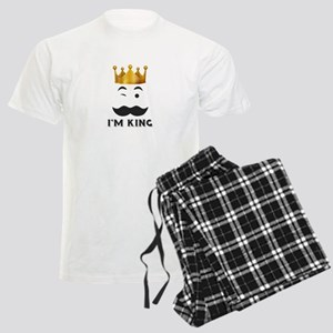 king and queen couple Men's Light Pajamas