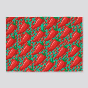 Red Hot Peppers 5'x7'Area Rug