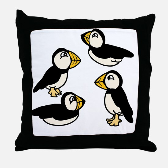 Unique Puffin Throw Pillow