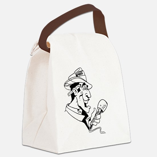 Cool Reporter Canvas Lunch Bag