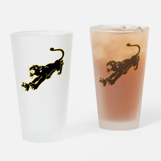 Cute Panther silhouette Drinking Glass