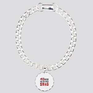 40 Swag Birthday Designs Charm Bracelet, One Charm