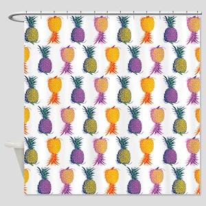 Pop Art Pineapple Shower Curtain