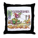 Extreme Gamer Throw Pillow