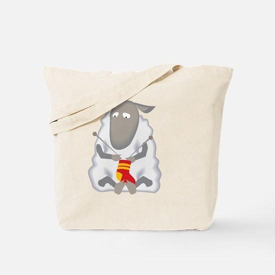 Cool Knitting Tote Bag