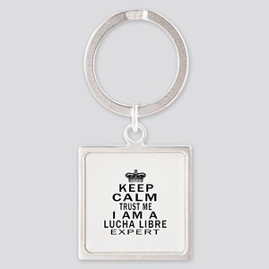 Lucha Libre Expert Designs Square Keychain